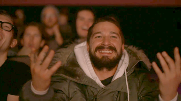 Watching Shia LaBeouf watching Shia LaBeouf